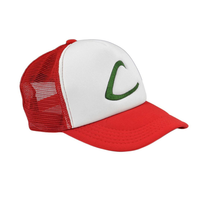 bd2e66dd82058 Pokemon Ash Ketchum Unisex adult Trucker Hat Baseball Snapback Cap Trainer  Hat for Adult Embroidered