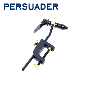 PERSUADER Fly Tying Tools C-Clamp Vise for Beginners 1 set steel hardened ingenious vice for tying and making fly fishing lures high quality fly tying vise with c clamp black handle steel stainless hard jaws rotary accessories fly fishing tying vice tool
