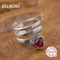 100% Real de Prata Esterlina 925 Anéis para As Mulheres Jóias Corindo Vermelho Amante Romântico Melhor Presente de Aniversário de Casamento Jóias HGY20399