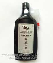משלוח חינם 12 OZ סופר השחור MAKKRUO סומי קעקוע מתאר אספקת דיו 360 ml/בקבוק