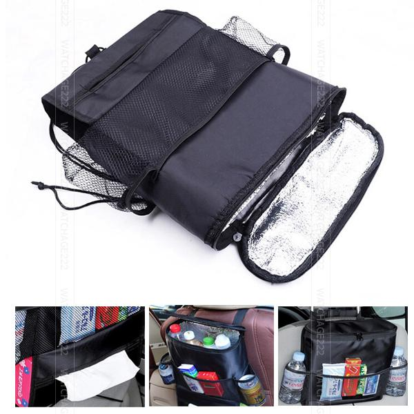 659220795c95 Car Back Seat Organizer Storage Bag Kick Mat Protector Tissue Box ...