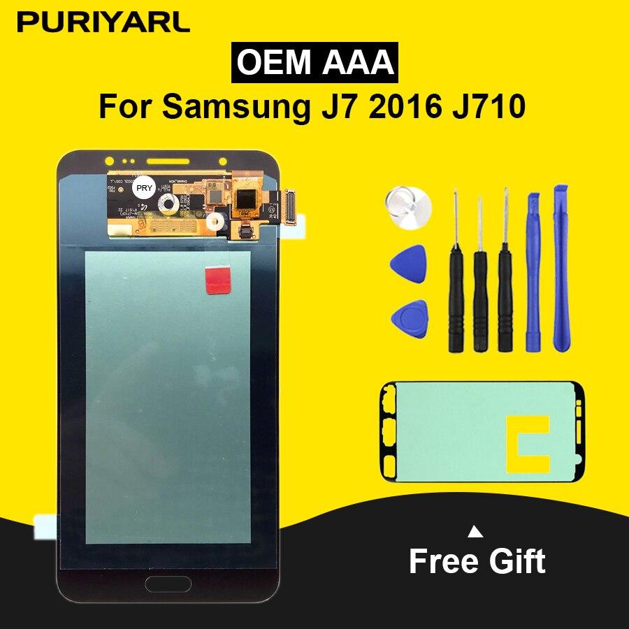 AAA AMOLED Pantalla LCD Pour Samsung Galaxy J7 2016 J710FN J710F J710M ÉCRAN LCD Écran Tactile Remplacement Numériseur Assemblée