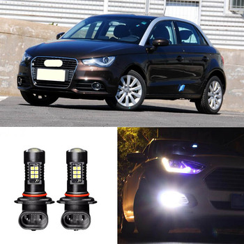 цена на 2x Canbus H11 3030 21SMD LED DRL Daytime Running Fog Lights Bulbs Fit For Audi A1 2012-2013