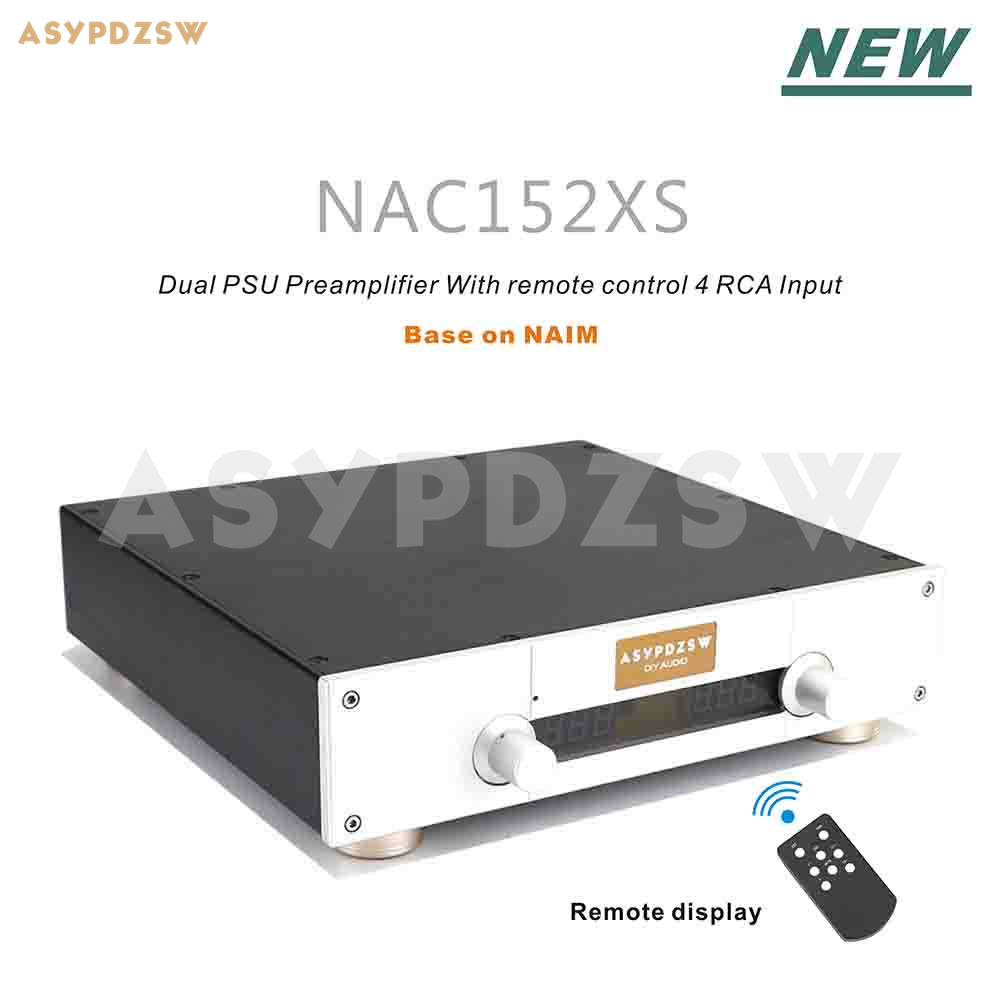 NEW Version NAC152 Preamplifier Base on NAIM NAC152XS With remote display 4 Way RCA input