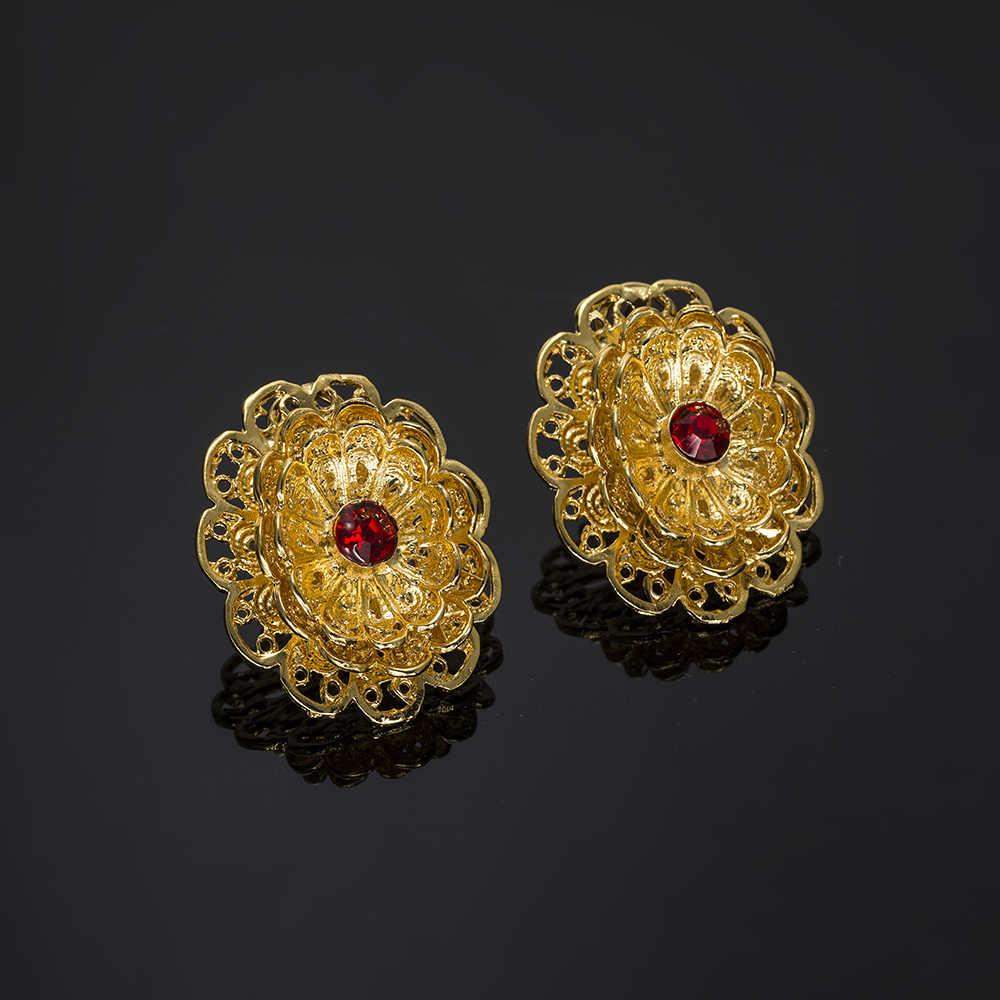 Mukun الخرز النيجيري الأفريقي مجموعة مجوهرات الزفاف للنساء مجوهرات الماركة المختنق قلادة مجوهرات الزفاف الهندي مجموعة