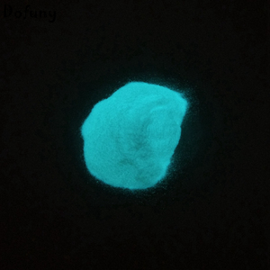 Image 3 - Dofuny poudre lumineuse de phosphore bleu ciel, 100g, pour revêtement de vernis à ongles, Pigment scintillant dans la nuit