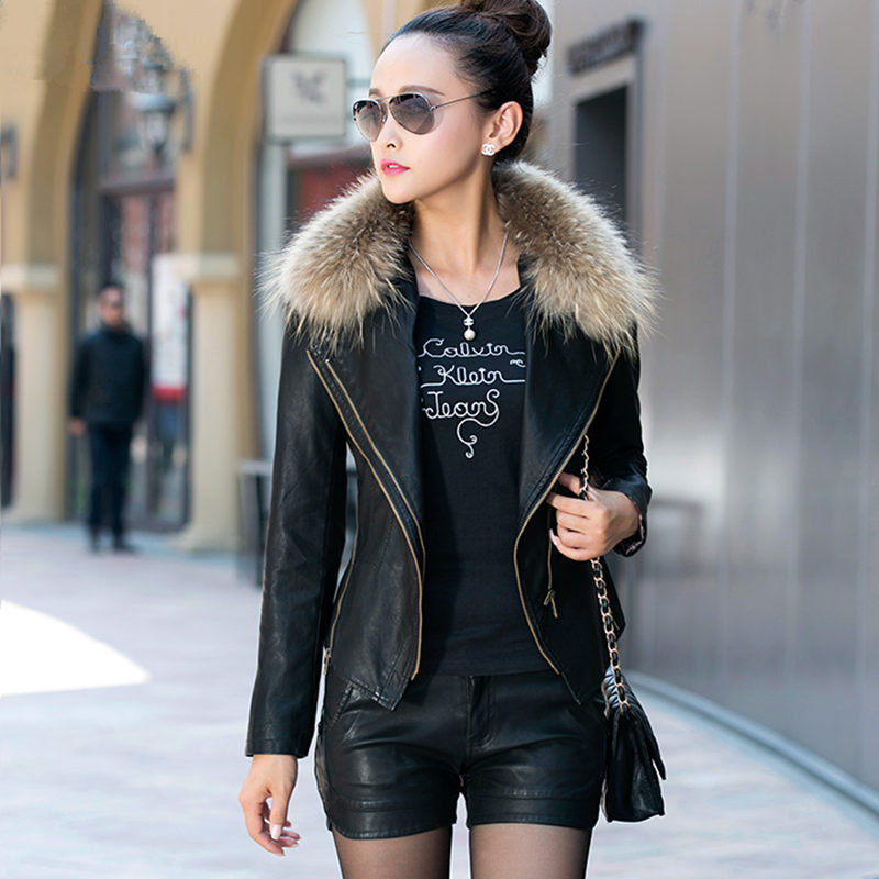 Genuine   Leather   Jacket Women Short Bomber Jacket 2019 New PU   Leather   Jacket Plus Cotton Slim Locomotive   Leather   Jackets LI673