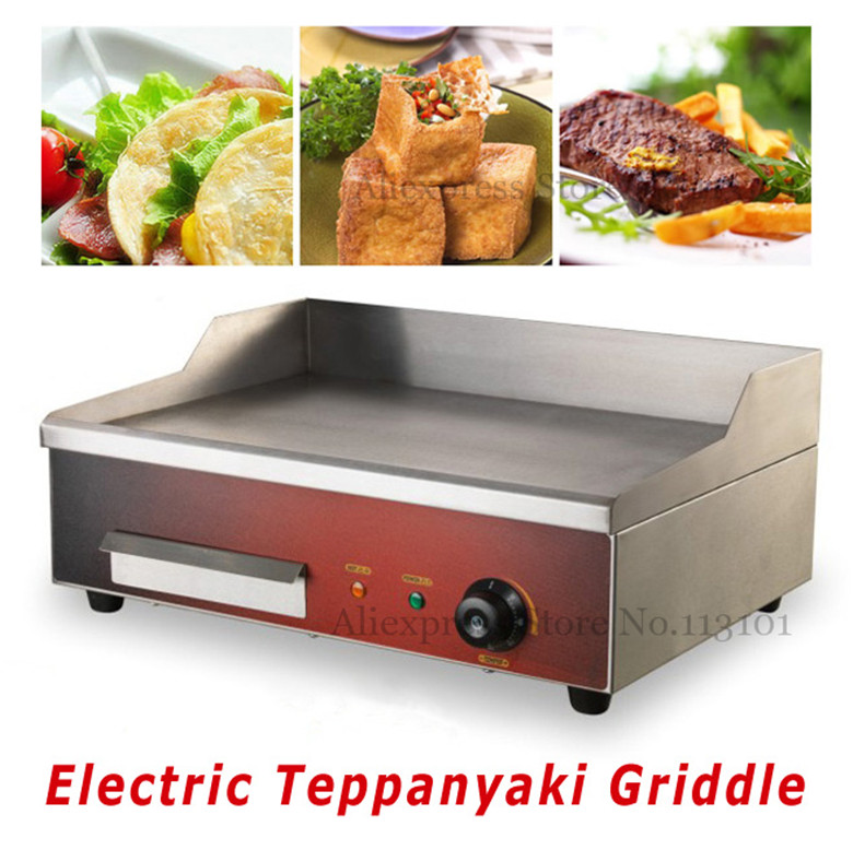 Stainless Steel Electric Grill/Griddle Teppanyaki Griddle Dorayaki Grill Machine commerical electric grill  griddle veg 830