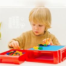 Multifunctional Childrens Building Blocks Storage Box Sorting Assembling Toys