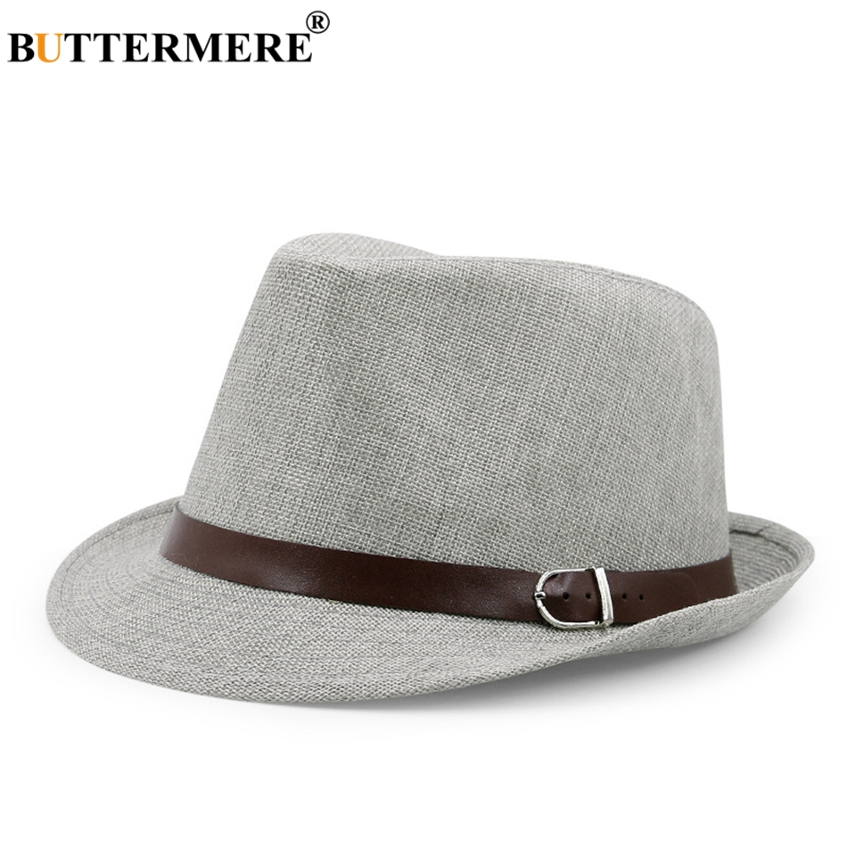 2725eb99222711 Mens Panama Hat Linen Navy Blue Hawaiian Summer Beach Sun Hat Lady ...