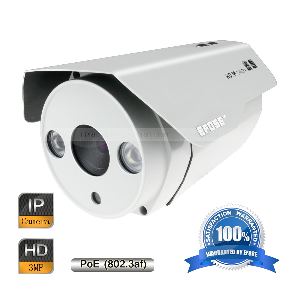EFOSE  FO-3IB221-N  2MP Full HD Network IR Bullet POE Camera 1/3 CMOS Outdoor HD 1080P Array IREFOSE  FO-3IB221-N  2MP Full HD Network IR Bullet POE Camera 1/3 CMOS Outdoor HD 1080P Array IR