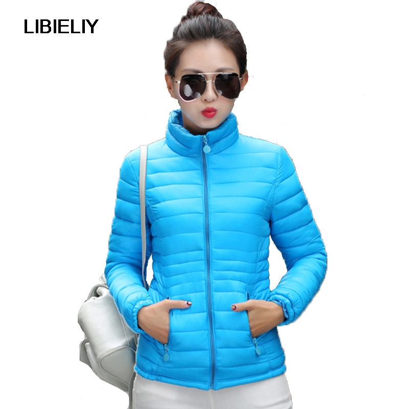 Nice Women Winter Stand Collar Coat Female Autumn Big Size 2XL Short   Basic     Jacket   Ultra Light Cotton Padded Jaqueta Feminina