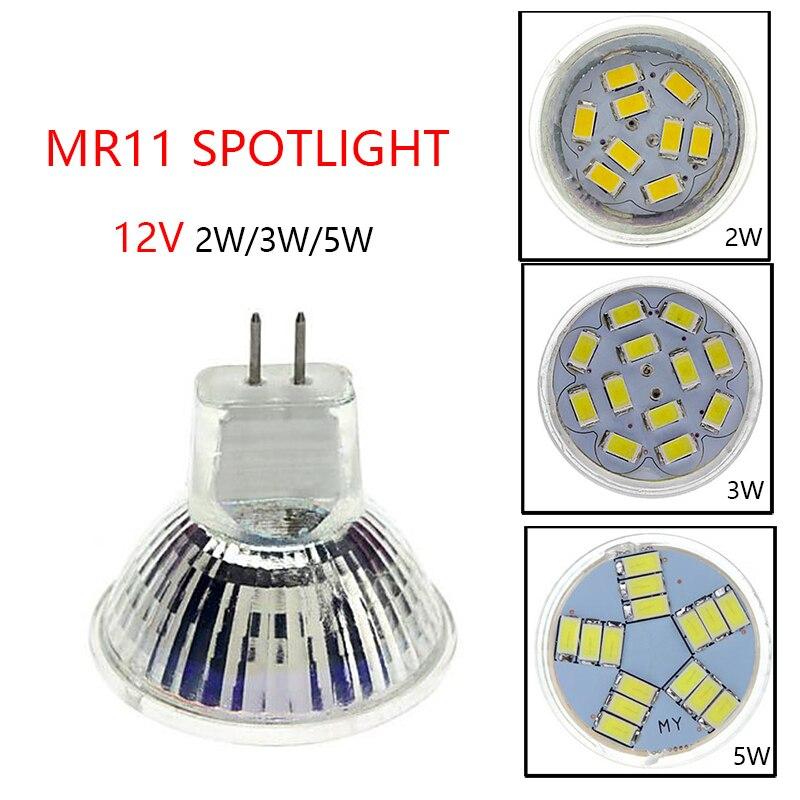 MR11 Spotlight Bulb DC12V  2w/3w/5w 5730SMD LED Lamp  Warm White/Cold White For Ceiling Lights/Window Display/Studio Light