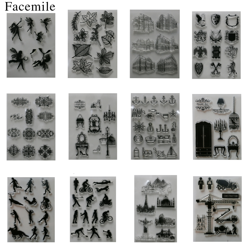 1PCS Clear Stamp Scrapbook DIY Photo Cards Rubber Stamp Transparent Silicone Transparent Stamp scrapbook diy photo cards account rubber stamp clear stamp transparent stamp handmade card stamp classical flower background