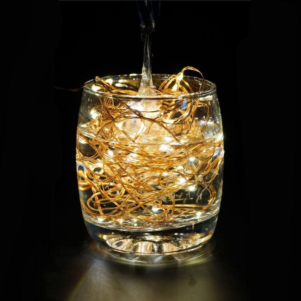 LED String Lights 33 ft z 100 LEDs SDAR Waterproof Lights dekoracyjne - Oświetlenie wakacje - Zdjęcie 3