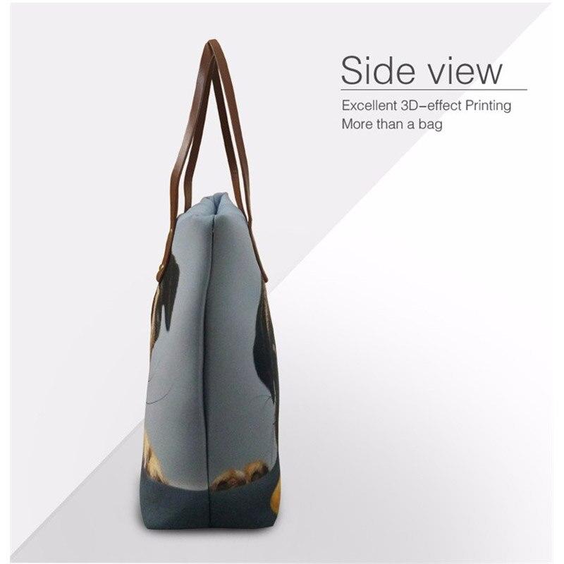 FORUDESIGNS sac à main mignon infirmière ours imprime femmes de luxe fourre-tout sacs à bandoulière sacs à main dames mode sac à bandoulière Bolsa Feminina - 3