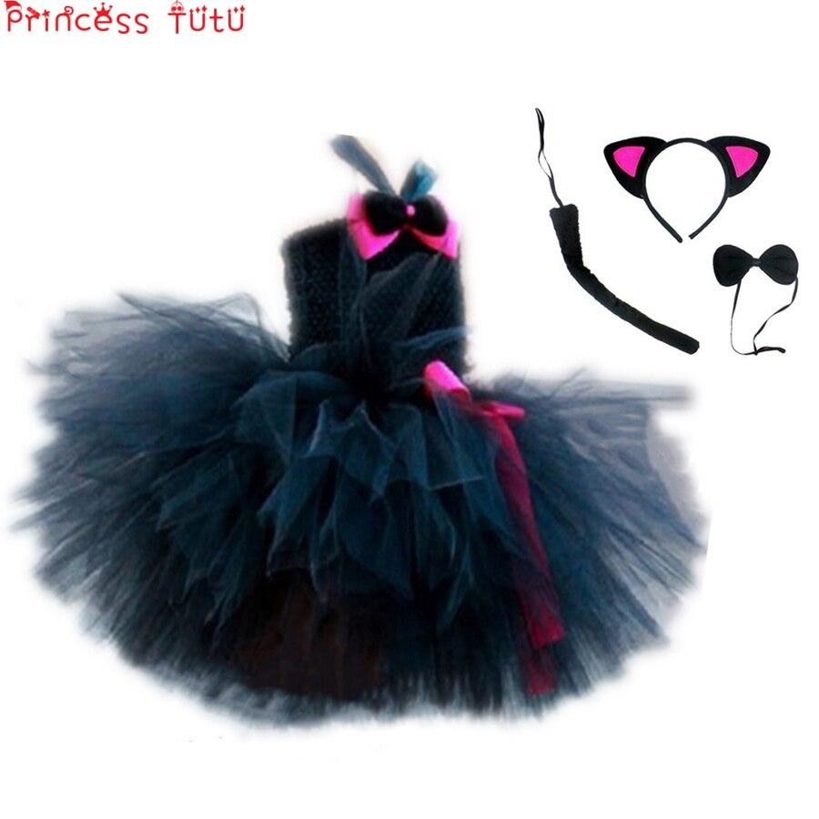 Birthday Party Cat Ears: Cute Cat Tutu Set Girls Minnie Dress Cat Ears Headwear