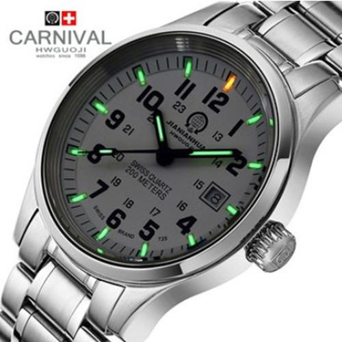 Prix pour Lumineuses au tritium célèbre marque montre militaire de plongée étanche 200 M quartz lumineux en acier plein hommes marque de luxe bracelet en cuir montres