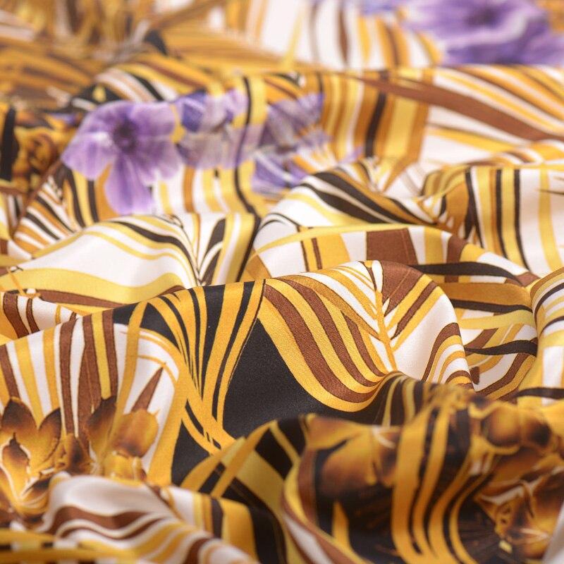 30mm stretch heavy crepe silk fabric reed digital printing silk stretch fabric soft cheongsam dress silk cloth 127cm width - 3