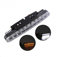 2pcs 30 LED Car White Amber DRL Daytime Running Light For Auto Car SUV Off Road