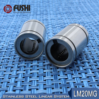 LM20MG Linear Ball Bearings 20x32x42mm 1 PC Stainless Steel Resin Retainer Linear Bushing LMS20UU Shaft 20MM