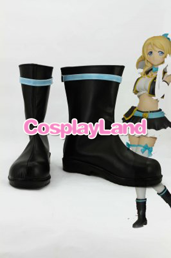 Customize Boots Love Live ! Ayase Eli Cosplay Boots Cosplay Costume Anime Party Shoes