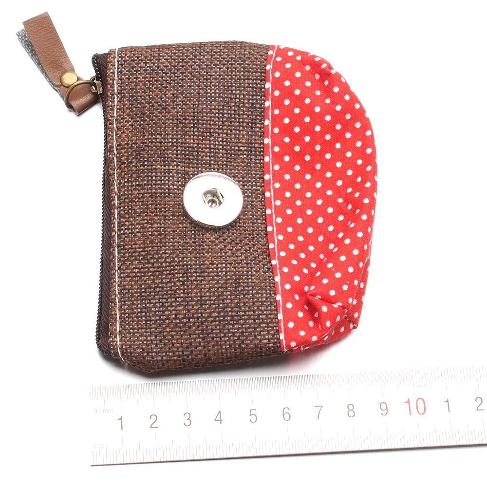 New Snap Jewelry Linen Woven 18MM Snap Buttons Bags Coin Purse Wooden Horse Eiffel Tower Bag For Women Handmade Jewelry