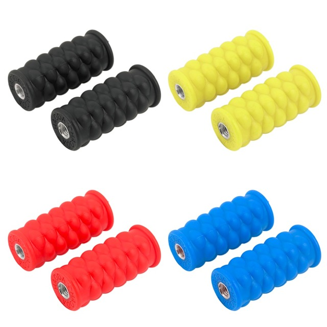 Bright Color Resin Round Footrest Foot Pegs Rest Pedal for Passengers Bike ATV Motorcycle Accessories free shipping
