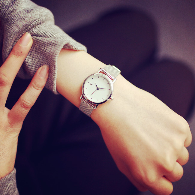 JIS Brand High quality Quartz-watches Stainless Steel Wristwatches Fashion Women Watch Ladies Wrist Men casual watch