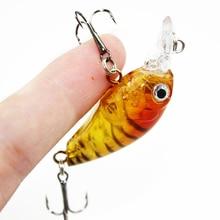 1PCS 4.5CM/4G Laser Hard Crank Fishing Lure Crankbait Treble Hooks 3D Eyes Bait Fishing Tackle