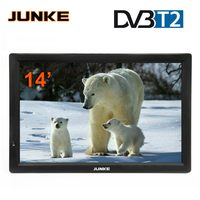 JUNKE HD Portable TV 14 Inch Digital And Analog Led Televisions Support TF Card USB Audio Video Player Car Television DVB T2