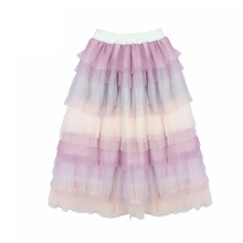 Fancy Baby Toddle Kids Clothes Girls Patchwork Skirts Long Tutu Skirt Girl Princess Birthday Party Dance Tutus Pettiskirt 0-14T