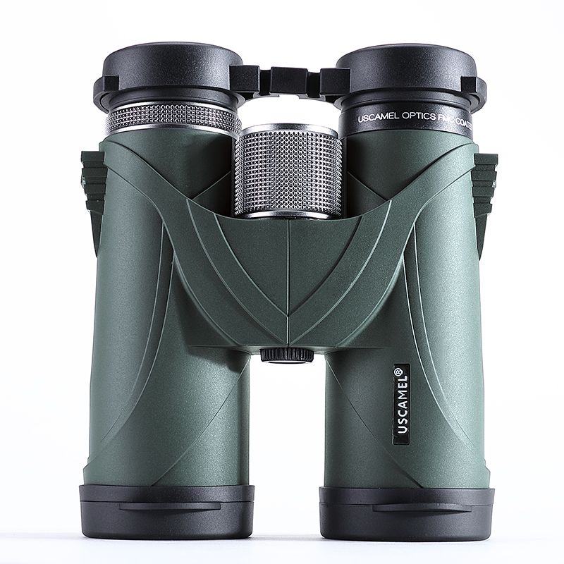 USCAMEL 10x42 Binoculars Professional Telescope Military HD High Power Hunting Outdoor,Green original binoculars 10x42 high power hd optical lenses mc green film military telescope for hunting outdoor spotting scope