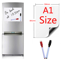 Magnetic Whiteboard A1 Size 594x841mm Fridge Magnets Presentation Boards Home Kitchen Message Writing Sticker 2 pen