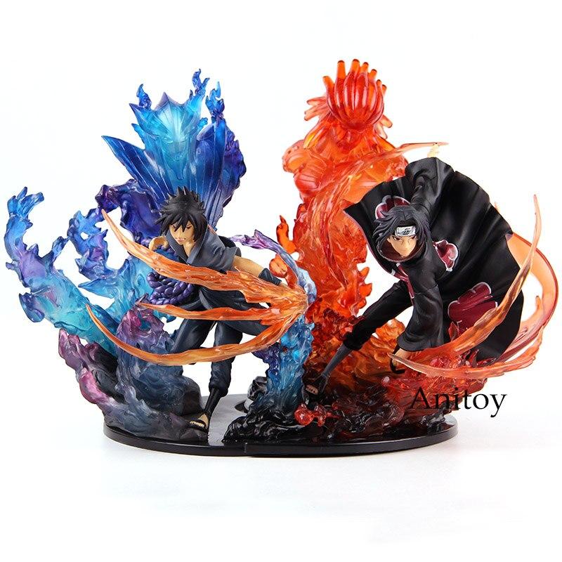 Figuarts нулевой Наруто кизуна отношение Саске Итачи Рисунок ПВХ Наруто фигурки героев Коллекционная модель игрушки