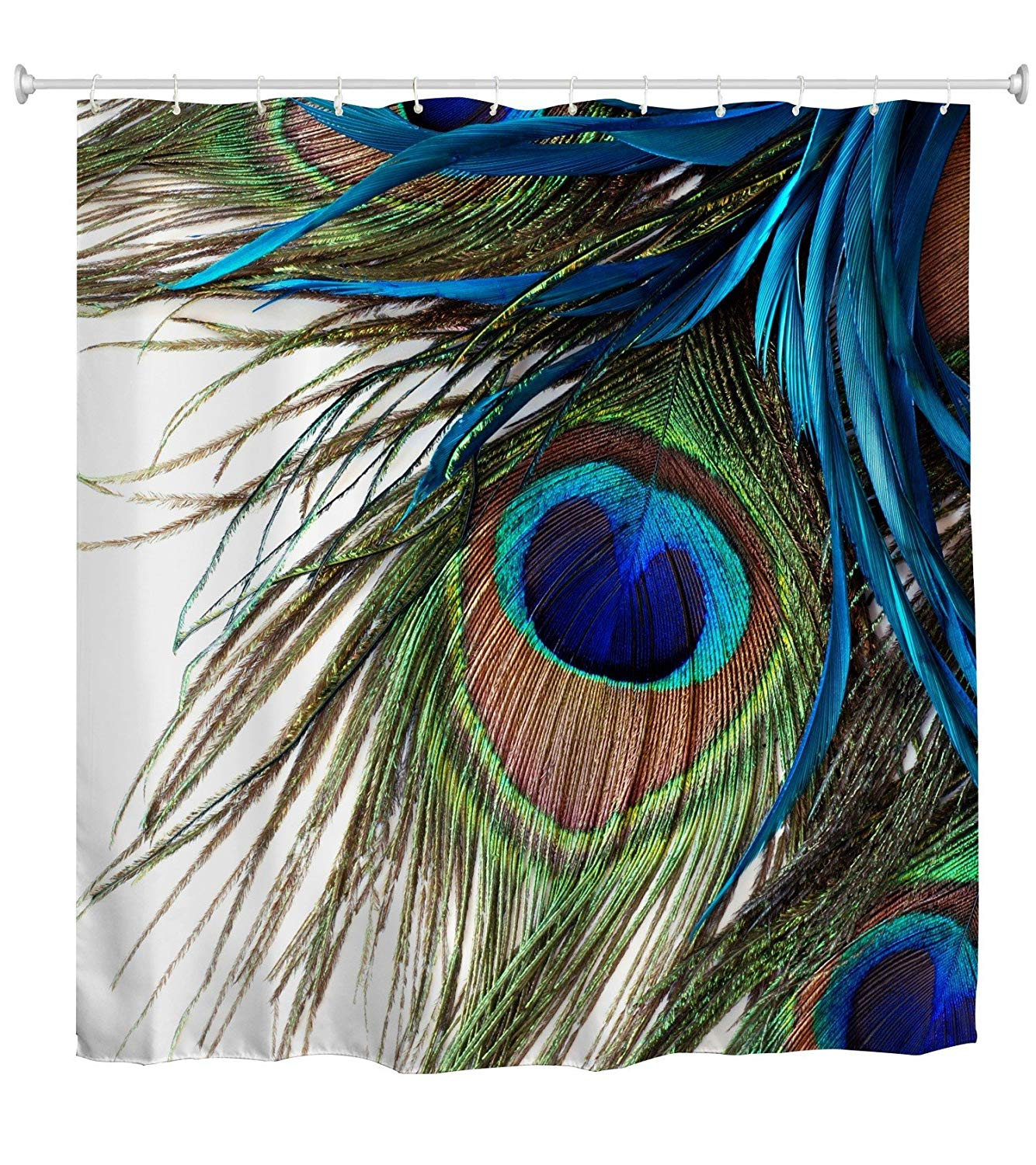 Us 14 27 26 Off Peacock Shower Curtain Peacock Feather Eye Waterproof Fabric Bath Shower Curtains Colorful In Shower Curtains From Home Garden On