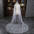 Free Shipping Long New Arrival Long One Layer Cut Edge White Bridal Veils Handmade Flowers Wedding Veils Bridal Accessory