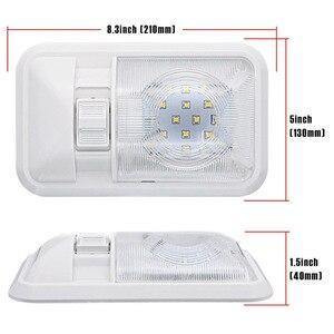 Image 3 - Auto LED Innen Dome Licht Warme Weiße Decke Lampe für 12V Camper Motor Home RV Marine Boot