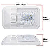 white light car Car LED Interior Dome Light Warm White Ceiling Lamp for 12V Camper Motor Home RV Marine Boat (3)