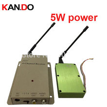 5w 1.2G transceiver,1.2G Video Audio drone Transmitter Receiver,cctv camera transmitter 1.2G CCTV transmitter for FPV