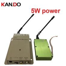 5 w 1.2G transceptor, 1.2G De Áudio E Vídeo Receptor Transmissor zangão, cctv câmera transmissor 1.2G CCTV transmissor para FPV