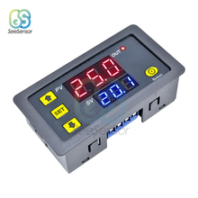 лучшая цена DC 12V AC 110V 220V Digital Time Delay Relay LED Display Cycle Timer Control Switch Adjustable Timing Relay Time Delay Switch