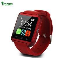 Trozum u8 sport reloj de pulsera de reloj inteligente bluetooth smart watch w8 con motor de vibración para el teléfono android smartwatch