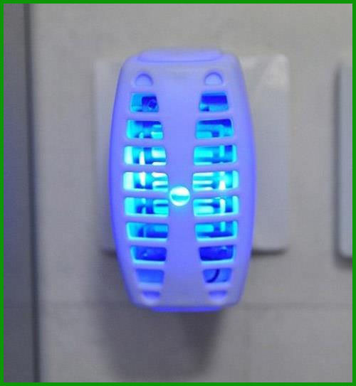Free Shipping LED UV Lamp Mosquito Killer Insect Moth Fly Catcher Trap EU Plug 220-240V AC