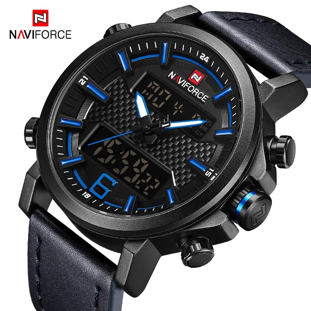 NAVIFORCE Military Sports Mens Watches Fashion LED Digital Quartz Watch Men Luxury Waterproof S Shock Clock Relogio Masculino
