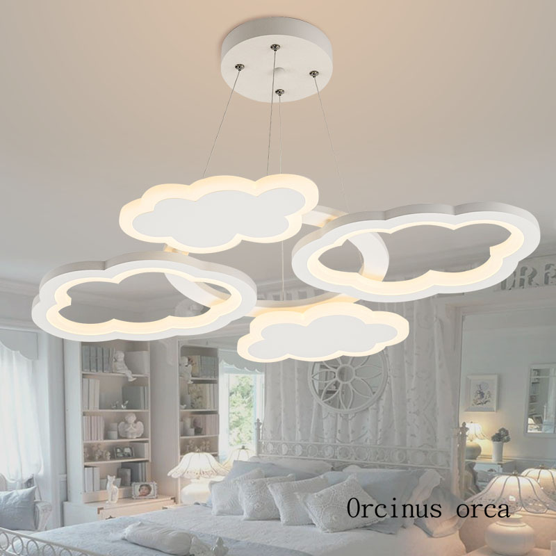 Us 198 0 Nordic Modern Minimalist Cloud Chandelier Nursery Children S Room Lights Cartoon Creativity Led Free Shipping In Pendant