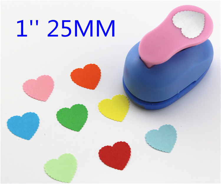 Free Ship 1'' Heart Shaped Paper Punch Eva Foam Punch Child Diy Craft Punch Scrapbook Paper Cutter Scrapbooking Punches S293710