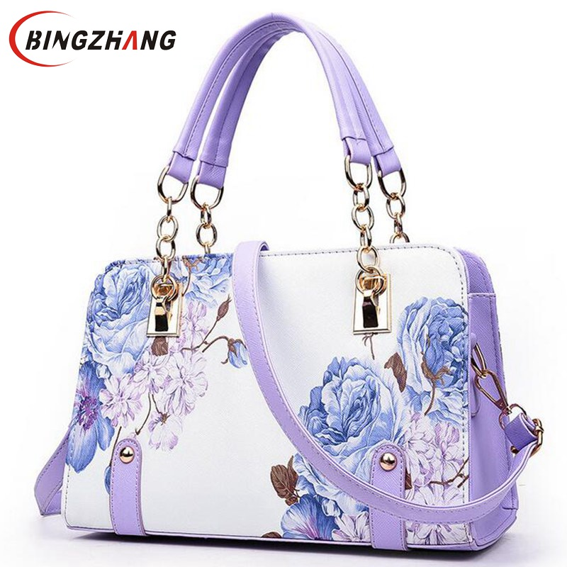 Pochette luxury Painting flowers Chain Women Bag famous designer purses and handbags ladies hand bags sac a main L4-2689