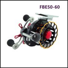 Nowy FBE 50-60 Automatyczne drutu rozprzestrzeniania 4 + 1BB Kołowrotki Tratwa Wszystkie stopu aluminium CNC Sea Fishing Spinning koła