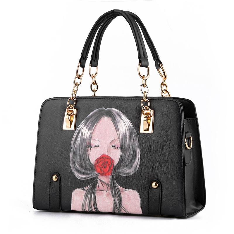 New Tide bag for Women ladies fashion Monroe and Hepburn PU Leather chain  Messanger Crossbody Shoulder Handbag